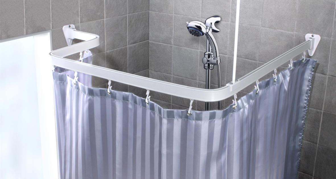 Держатель для ванной шторки угловой своими руками 41