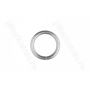 КОЛЬЦО металлическое для карниза 16 мм - ХРОМ МАТОВЫЙ