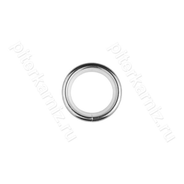 КОЛЬЦО металлическое (БЕСШУМНОЕ) для карниза 16 мм - ХРОМ ГЛЯНЕЦ
