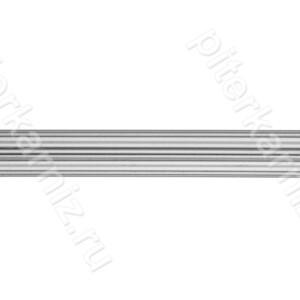 ТРУБА 16 мм Рифленая - ХРОМ МАТОВЫЙ - 160 см