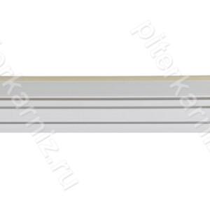 """КАРНИЗ 2 ряда прямой бленда """"ГРЕЦИЯ"""" (крючки) - БЕЛЫЙ/ЗОЛОТО"""