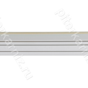 """КАРНИЗ 2 ряда прямой бленда """"ГРЕЦИЯ"""" (зажимы) - БЕЛЫЙ/ЗОЛОТО"""