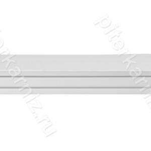 """КАРНИЗ 2 ряда прямой бленда """"ИМПЕРИЯ 7"""" (крючки) - БЕЛЫЙ"""