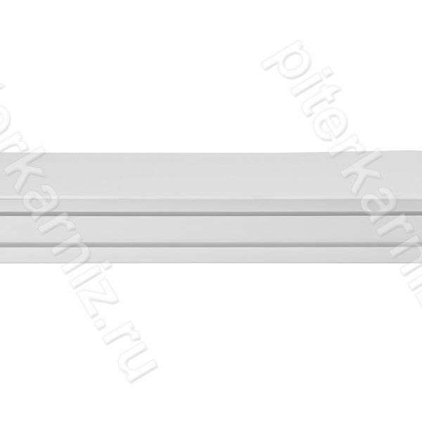"""КАРНИЗ 2 ряда прямой бленда """"ИМПЕРИЯ 7"""" (зажимы) - БЕЛЫЙ"""