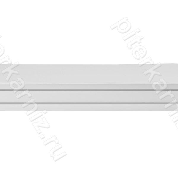 """КАРНИЗ 3 ряда прямой бленда """"ИМПЕРИЯ 7"""" (крючки) - БЕЛЫЙ"""