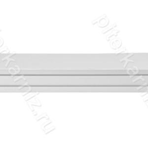 """КАРНИЗ 3 ряда прямой бленда """"ТОСКАНА 5"""" (крючки) - БЕЛЫЙ"""