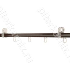 ШИНА вторая направляющая для карниза 28 мм (крючки) - КОРИЧНЕВЫЙ