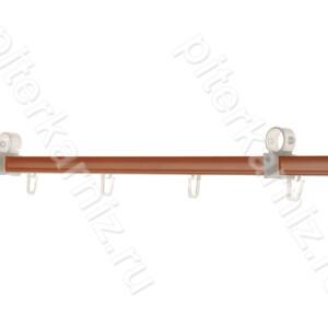 ШИНА вторая направляющая для карниза 28 мм (крючки) - ВИШНЯ